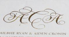 Ailbhe and Aiden Wedding Logos, Wedding Signage, Monogram Wedding, Card Envelopes, Monograms, Thank You Cards, Initials, Place Card Holders, Symbols