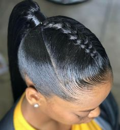 11 short hair ponytail hairstyles you best hairdos for s easy ponytail styles for short hair you ponytails for short black hair find ponytail hairstyles. Black Ponytail Hairstyles, Ponytail Styles, African Hairstyles, Braid Styles, Girl Hairstyles, Braided Hairstyles, Curly Hair Styles, Hairstyles 2016, Black Hairstyles For Prom
