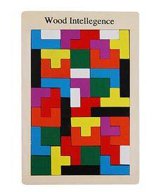 Wooden toy baby gift new wood Intelligence triple tetris game sliding block 1set