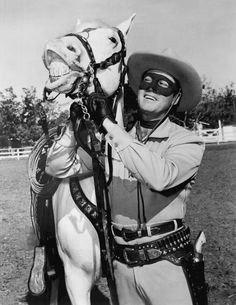 The Lone Ranger debuted in 1933.    Cute picture.