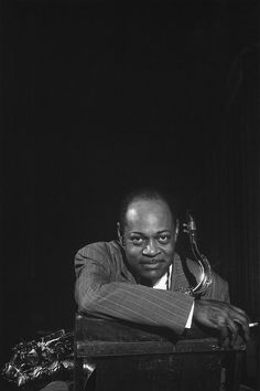 """Coleman Hawkins by Bob Willoughby photographed after a """"Just Jazz"""" concert, Jazz Artists, Blues Artists, Jazz Musicians, Francis Wolff, Coleman Hawkins, Jazz Concert, Thelonious Monk, Classic Jazz, Instruments"""
