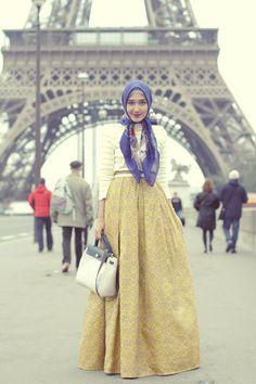 Paris J'taime | Hijab Modesty ❤ hijab style