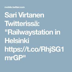"""Sari Virtanen Twitterissä: """"Railwaystation in Helsinki https://t.co/RhjSG1mrGP"""""""