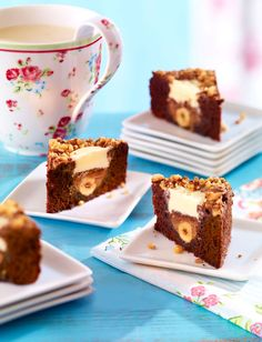 Süße Brownie-Ecken
