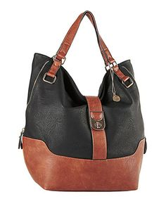 aadae4c87d54 Another great find on #zulily! Black Patmos Satchel by Big Buddha  #zulilyfinds Black