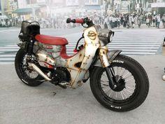 Custom Motorcycles, Custom Bikes, Cars And Motorcycles, Mini Chopper, Honda Cub, Scooter Bike, Retro Bike, Gas And Electric, Touring Bike