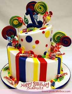 Click to enlarge Candy Land Birthday Cake