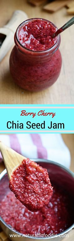 Fruit, chia seeds and a liquid sweetener of your choice is all you need to make this delicious all- natural and healthy chia seed jam. Grab those strawberries at your farmer's market fast before they go out of season!