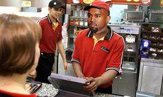 Kanye West as a Burger King cashier - Hilarious Post by Burger Nerd! Food Articles, Kanye West, Funny Videos, Kim Kardashian, Laughing, Funny Stuff, Restaurants, Nerd, Polo Ralph Lauren
