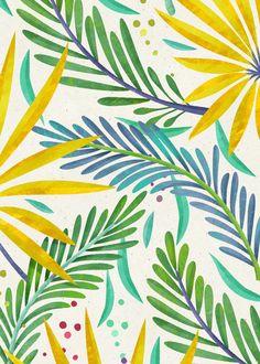 Ira Khroniuk on Behance Rain Forest on Behance Pattern Illustration, Botanical Illustration, Surface Pattern Design, Pattern Art, Cute Wallpapers, Wallpaper Backgrounds, Iphone Wallpaper, Tropical Pattern, Gouache Painting