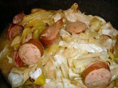 Kielbasa, Cabbage, And Onions Low-Carb Slow Cooker Crock Pot) Recipe - Food.com