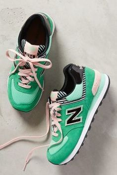 New Balance WL 574 Sneakers Blue Motif #Sneakers #anthrofave