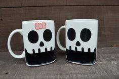 Til Death Do Us Part  His and Hers Skull Ceramic by InAGlaze, $52.00