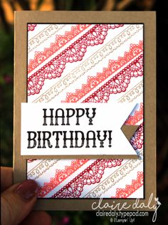 Stampin Up Delicate Details Saleabration 2017 stamp set Birthday Cards For Women, Handmade Birthday Cards, Happy Birthday Cards, Birthday Wishes, Stampin Up Anleitung, Stampin Up Karten, Scrapbooking, Scrapbook Cards, Arabesque