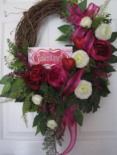 SALE Valentine Wreath Free Shipping Front Door by FunFlorals