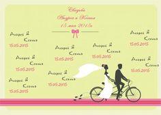 Баннер на велосипедную свадьбу - Свадебный баннер - svadba-i-prazdnik.ru