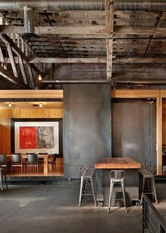 Industrial/Rustic Dining Room