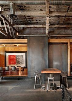 Industrial/Rustic Dining Room