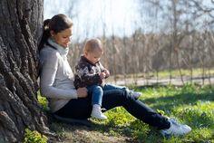 Little Princess Estelle on her mother's lap - Sweden