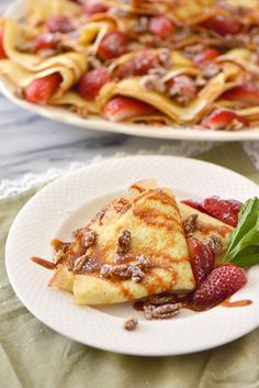 Dulce de Leche Crepes with Cacique Crema Mexicana