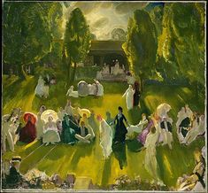 Tennis at Newport by George Bellows, 1919, American, oil on canvas. The Metropolitan Museum of Art.