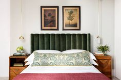 bedroom with green headboard Green Headboard, Home Bedroom, Bedroom Design, Cheap Home Decor, Home Decor, Stylish Bedroom, Bedroom Decorating Tips, Stylish Bedroom Design, Modern Bedroom