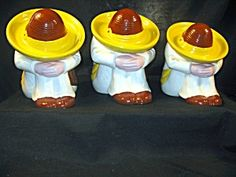 Mexican Hombre Ceramic Canisters (3) | Canisters | Pinterest