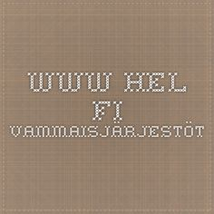 www.hel.fi vammaisjärjestöt