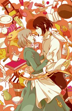 walking on a dream by *twitchhhhh on deviantART (Sophie & Howl - Howl's Moving Castle) #ghibli