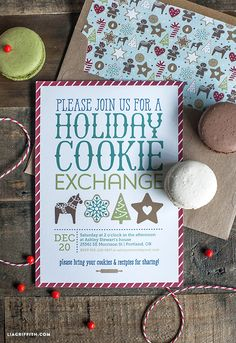 There is nothing that says Christmas better than a homemade holiday cookie. What fun it is to gather with your friends to exchange your fresh baked goodies and what a great way to do it with this adorable Christmas Cookie Exchange Party Kit. We partnered with TomKat Studios for this cookie exchange party in designing a set of printables that would coordinate with their snappy party ware items as well as the oh-so-cute boxes and bags for you to package all of your party goodies in to take…