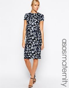d06188bb12c9 asos maternity exclusive textured bodycon dress in floral print with cross  front