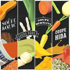 Bagelstein sort quatre nouvelles recettes de soupes, pour l'hiver 2015/2016. Bagelstein devient ton fournisseur officiel en légumes.