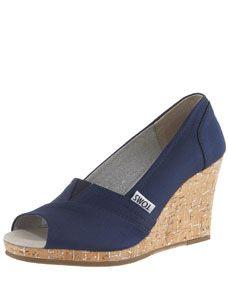 TOMS Shoes Rowan Cork Wedge Heel