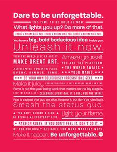 The Be Unforgettable Manifesto