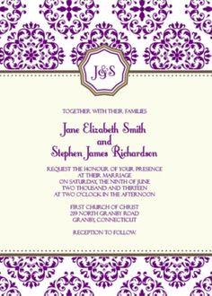 Free printable Wedding Invitations. Some are pretty cute :)