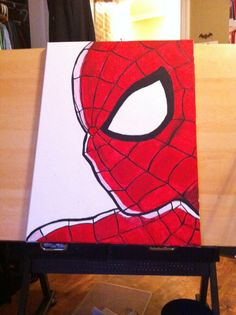 Easy Canvas Painting Ideas - Check out our latest collection of ideas featuring Super Easy DIY Canvas Painting Ideas For DIYSIDEAS. Cute Canvas Paintings, Easy Canvas Painting, Mini Canvas Art, Kids Canvas, Painting For Kids, Diy Painting, Super Hero Paintings, Spray Paint Artwork, Marvel Paintings