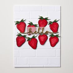 """Market Fresh is """"just ripe for you""""! These darling strawberries look adorable colored with ink and a blender pen."""
