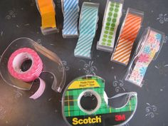So Easy!-- recycle old scotch tape dispensers for many brands of washi tape dispensing.