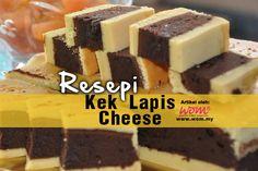 #Resepi #KekLapisCheese #WomDotMy  Rasanya cukup enak. Tak kira dimakan di bahagian coklat ataupun cheesenya sahaja. Dapatkan resepi Kek Lapis Cheese ini di http://www.wom.my/saji/resepi-kek-lapis-cheese/
