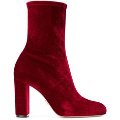 Oscar Tiye Giorgia sock boots ($865) ❤ liked on Polyvore featuring shoes, boots, red, sock boots, oscar tiye, red shoes and red boots