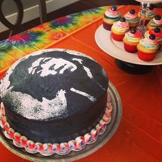 Jimi Hendrix birthday cake I made for my sons 16th birthday today!
