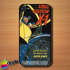 Vintage Disney Space Station Custom iPhone 4 or 4S Case Cover #iphone4 #Case #cover #Disney