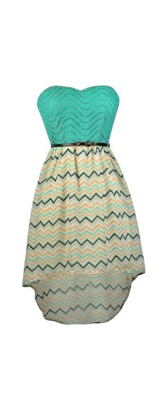 Lily Boutique High Low Times Teal and Orange Chevron Belted Dress, $34 Chevron High Low Dress, Cute Chevron Dress, Teal Chevron Dress, Belted Chevron Dress www.lilyboutique.com