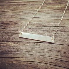Personalized Sterling Silver Nameplate Necklace