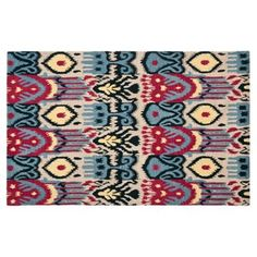 Check out this item at One Kings Lane! Crane Ikat Rug, Beige/Blue