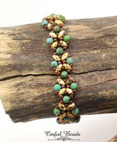 SUPERDUO BRACELET-BEADED Bracelet-Turquoise Picasso-Boho