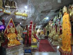 Thousands of Buddha images have been placed in Shwe Oo Min Cave at Kalaw, Myanmar (Burma). Cave, Buddha, Fair Grounds, Fun, Caves