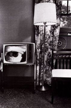 Lee Friedlander .. watching TV..is a waste of good READING time...