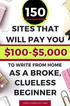 Earn Money From Home, Earn Money Online, Make Money Blogging, Way To Make Money, Earning Money, Money Fast, Online Earning, Online Writing Jobs, Freelance Writing Jobs