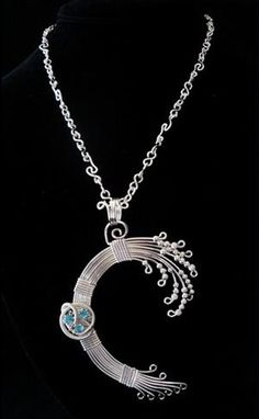 Sterling Tsunami Wave Pendant by ThornHillJewelry on Etsy, $165.00